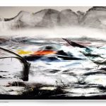 1 Kalligrafie Blick aus dem inneren eines Plastikbeutels digital